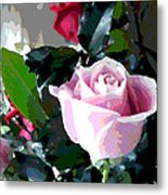 Cropped Clipped Pink Metal Print