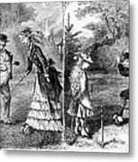 Croquet, 1873 Metal Print