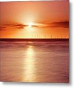 Crosby Beach In Sunset Metal Print by Ian Moran