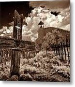 Cross At Los Golondrinas Metal Print