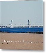 Cross Bay Bridge Metal Print