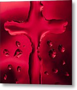 Cross Red Syrup 1 C Metal Print