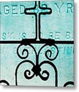 Crosses Voided Metal Print