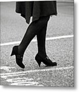 Crossing Road Metal Print