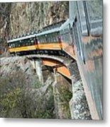 Crossing The Bridge Metal Print