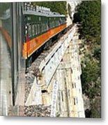 Crossing The Gorge Metal Print