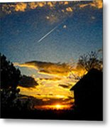 Crossing The Sky Metal Print by Sergio Aguayo