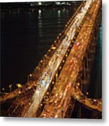 Crowded Bridge Metal Print