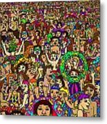 Crowded Swimming Pool Metal Print