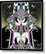 Crown And Jeweled Lotus Flowers Fractal 124 Metal Print