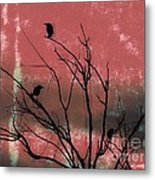 Crows The Watcher Metal Print by Sacred  Muse