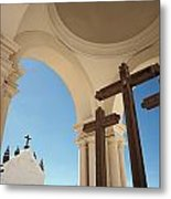 Crucifix At Basilica Of Our Lady Of Metal Print