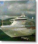 Cruise Ship In Port Metal Print