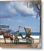 Waiting For Customers Metal Print