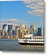 Cruising Past The Freedom Tower Metal Print