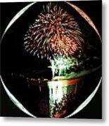 Crystal Ball Fireworks Metal Print