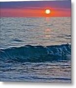 Crystal Blue Waters At Sunset In Treasure Island Florida 3 Metal Print