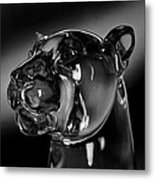 Crystal Cougar Head IIi Metal Print