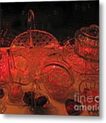 Crystal In Red  Metal Print