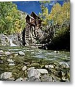 Crystal Mill In Autumn Metal Print