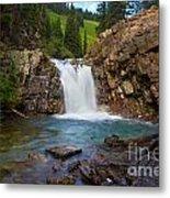 Crystal River Waterfall Metal Print