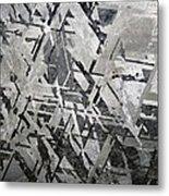 Crystal Structures In Meteorite Metal Print