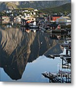 Crystal Waters At Reine Village Metal Print