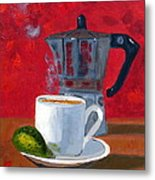 Cuban Coffee And Lime Red R62012 Metal Print