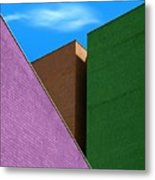 Cubism And Colors In The City Metal Print