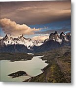 Cuernos Del Paine And Lago Pehoe Metal Print