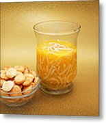 Cup O Soup And Oyster Crackers Metal Print