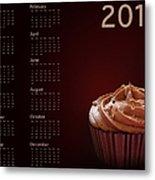 Cupcake Calendar 2013 Metal Print by Jane Rix