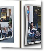 Curb Resting - Gently Cross Your Eyes And Focus On The Middle Image Metal Print