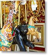 Curious Carousel Beasts Metal Print