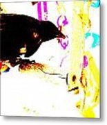 Curious Crow Metal Print by YoMamaBird Rhonda