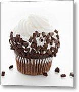 Curly Q Chocolate Cupcake Metal Print