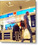 Currency Exchange At An Airport Metal Print
