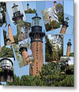 Currituck Beach Light House Station Nc Usa Metal Print