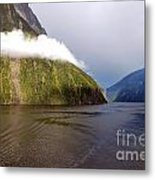 Curve Of The Clouds Metal Print