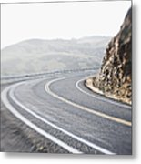 Curving Two Lane Road Metal Print by Jetta Productions, Inc