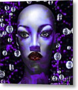 Cushioned Lips Moon Lady Metal Print