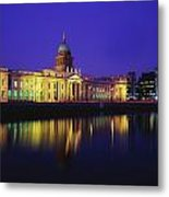 Custom House, Dublin, Co Dublin Metal Print by The Irish Image Collection