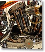 Custom Motorcycle Chopper . 7d13316 Metal Print by Wingsdomain Art and Photography