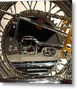 Custom Motorcycle Chopper . 7d13317 Metal Print by Wingsdomain Art and Photography