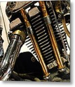 Custom Motorcycle Chopper . 7d13318 Metal Print by Wingsdomain Art and Photography