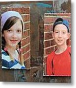 Custom Photo Portrait Group Metal Print