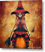 Cutest Little Witch Metal Print
