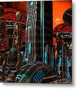 Cyber Innovation Metal Print