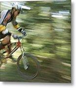 Cycling On Stoner Mesa, Colorado Metal Print