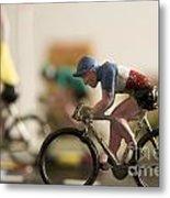 Cyclists. Figurines. Symbolic Image Tour De France Metal Print